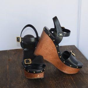 Tory Burch Tatum Wedge Sandals W9